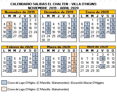 Calendario 2017 Argentina.Border Crossing El Chalten Argentina Villa O Higgins Chile